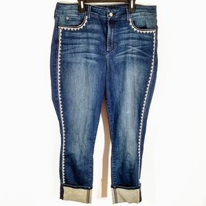 NYDJ Alina Size 14 Wide Cuff Ankle Jeans.